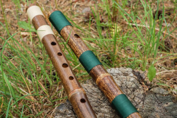 dark bamboo flutes